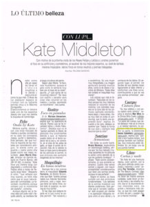 Telva julio2017 GemaCabañero Gema Cabañero analiza a Kate Middleton en Telva Madrid