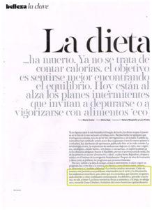 Dieta Gema Cabañero en S Moda