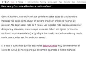 Screen Shot 2017 11 02 at 11.14.06 Dieta Saludable de Gema Cabañero en Telva Madrid
