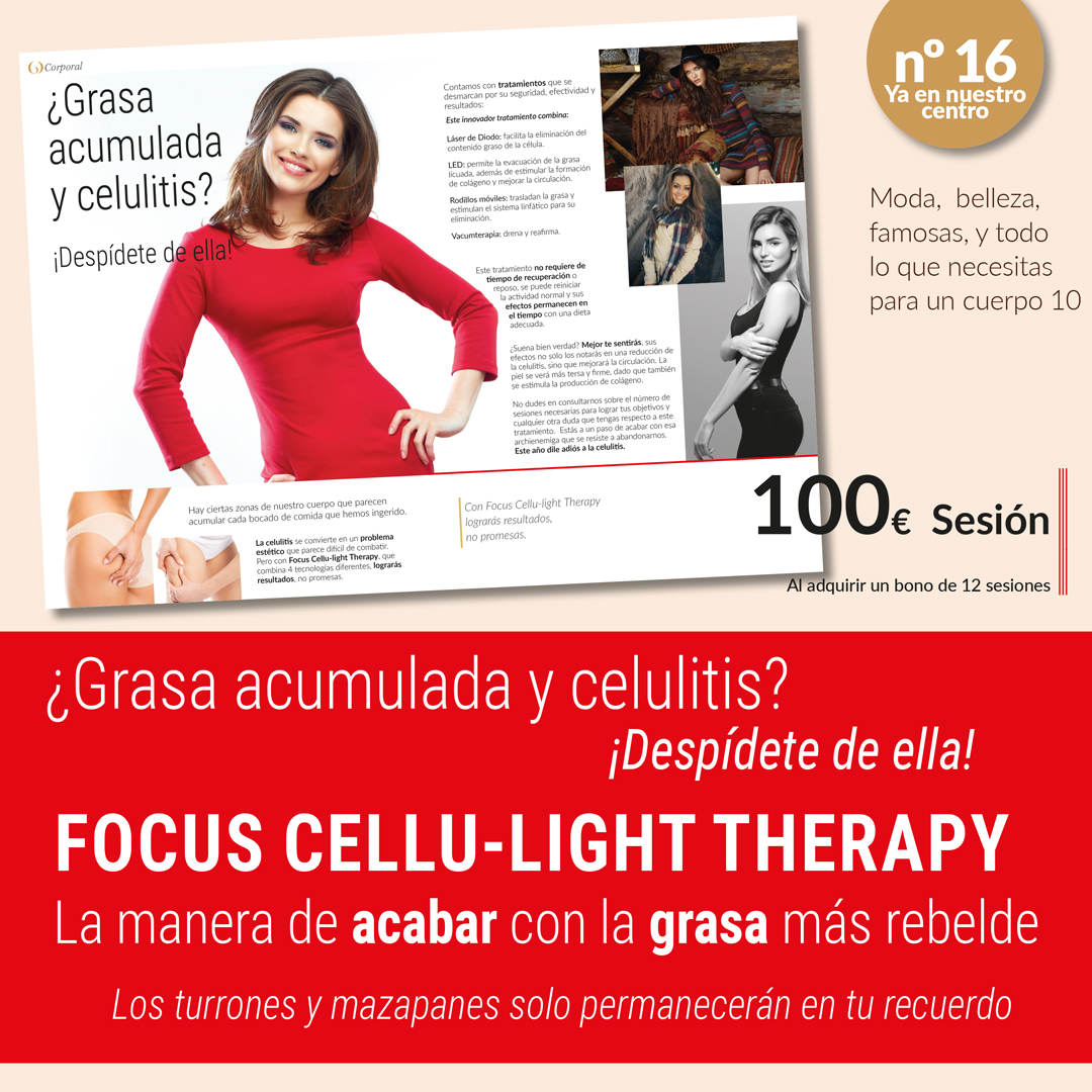 Elimina grasa acumulada con Focus Cellu-Light