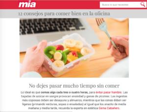 Picar sano en revista Mia